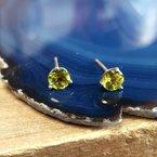 Arizona Peridot Gold Jewelry 5mm Peridot Studs