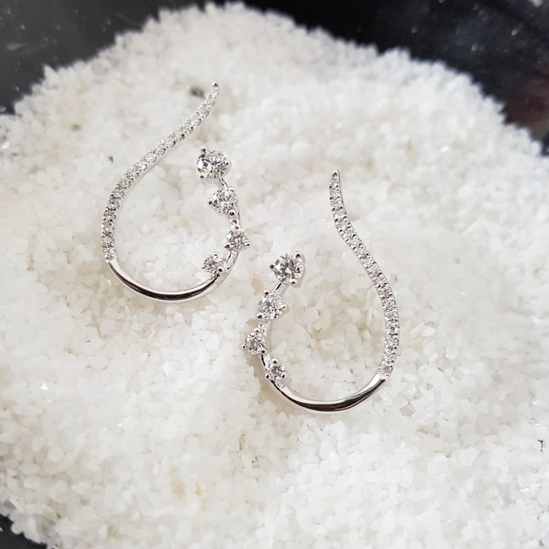 Sami Fine Jewelry Ribbon Diamond Earrings