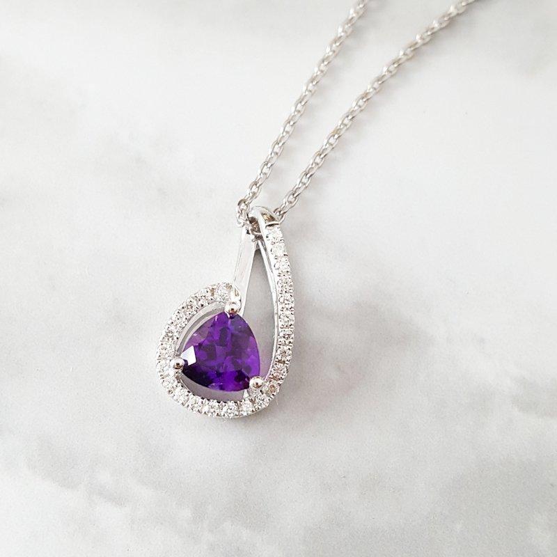 Arizona Amethyst™ Gold Jewelry Swirl Halo Pendant