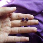 Arizona Amethyst™ Gold Jewelry Essential 2 1/3CT Trillion Cut Studs