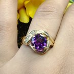Arizona Amethyst™ Gold Jewelry Blooming Amethyst Ring