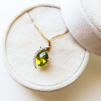 Swirl Peridot Necklace