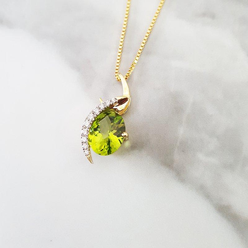 Arizona Peridot Gold Jewelry Swirl Peridot Necklace