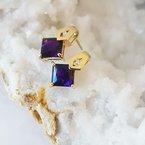 Arizona Amethyst™ Gold Jewelry Amethyst Princess Studs
