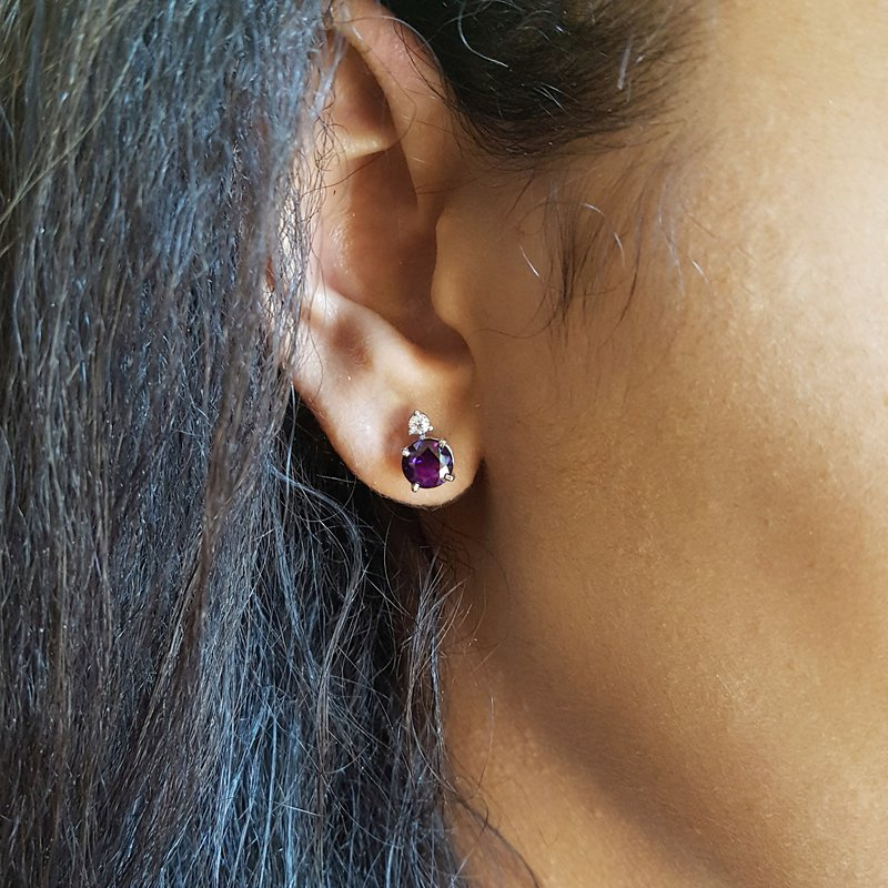 Arizona Amethyst™ Gold Jewelry Diamond Accent Studs