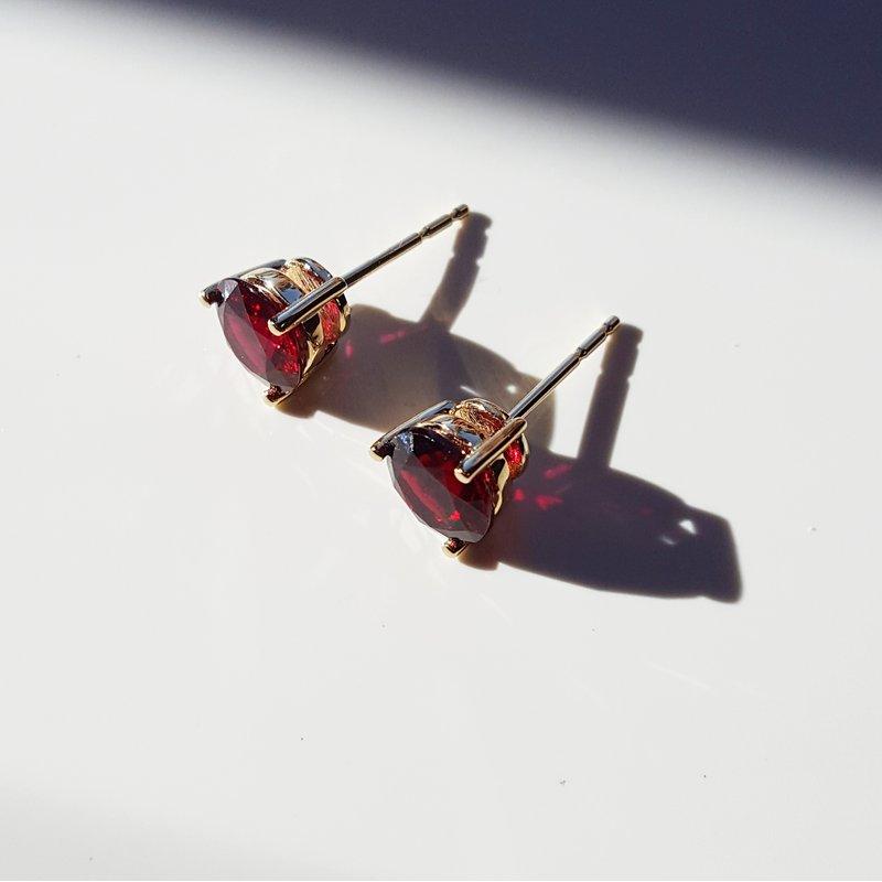 Arizona Anthill Garnet Gold Jewelry Essential 2 1/3ct Studs