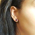 Arizona Amethyst™ Gold Jewelry Essential 1 1/2CT Oval Studs