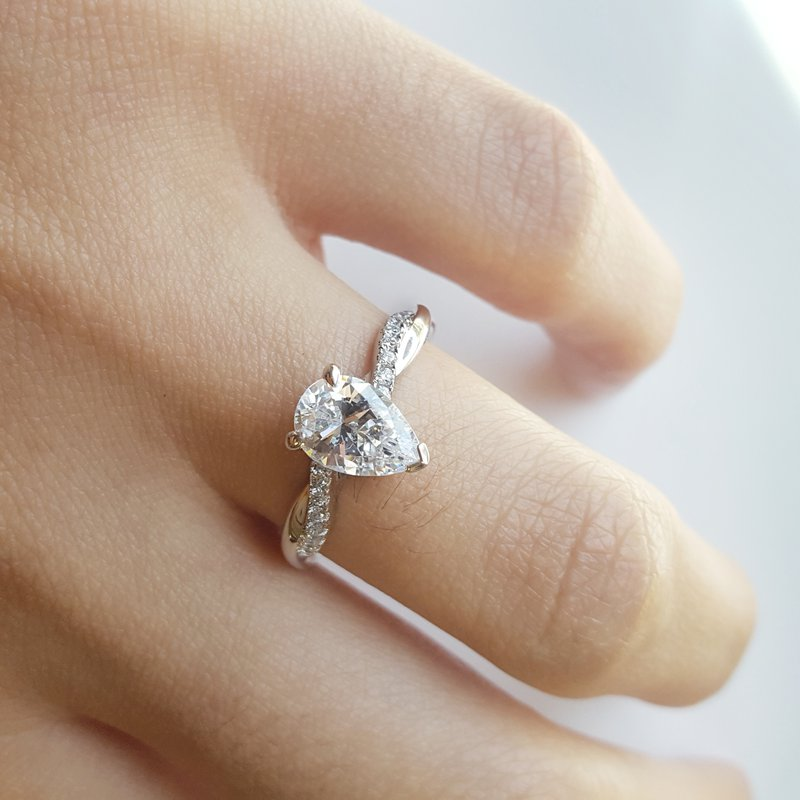 Sami Fine Jewelry Pear Engagement Ring