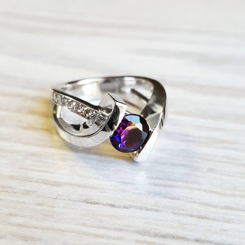 Arizona Amethyst™ Gold Jewelry White Gold Amethyst Ring
