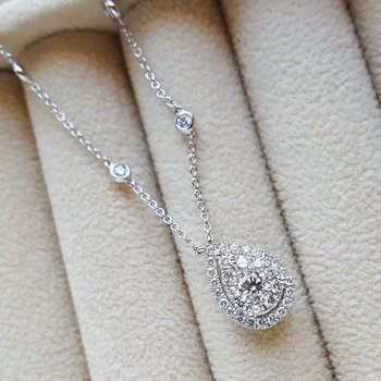 Pear Diamond Pendant