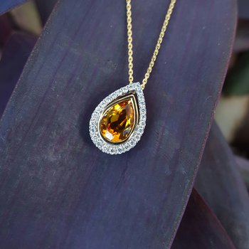 Pear-Shaped Citrine Pendant