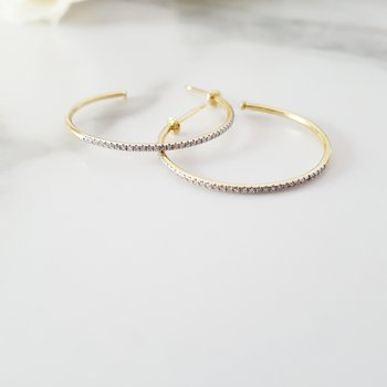 Thin Diamond Hoops