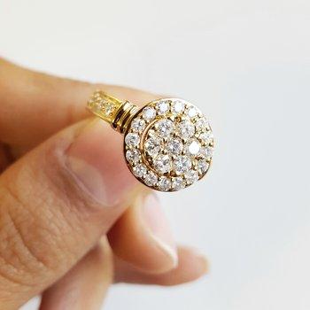 Round Pavé Halo Ring