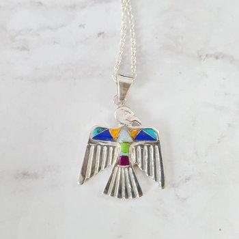 Multicolored Eagle Pendant
