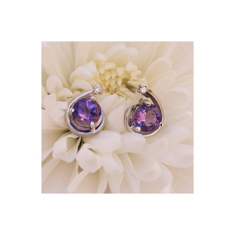 Arizona Amethyst™ Silver Jewelry Arizona Amethyst Shooting Star Studs