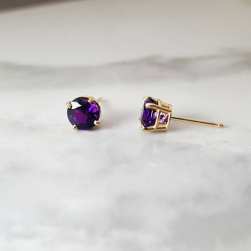 Arizona Amethyst™ Gold Jewelry Essential 2CT Round Studs
