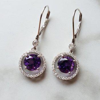 Halo Dangle Earrings