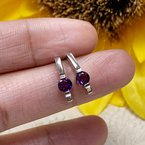 Arizona Amethyst™ Gold Jewelry Round Bar Drop Stud