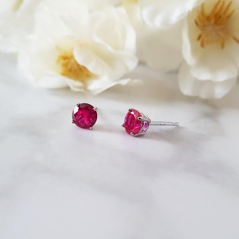Sami Fine Jewelry Ruby Studs