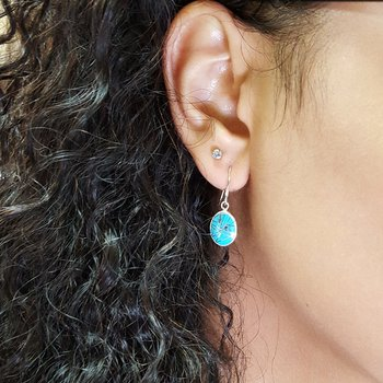 Oval Dangle Earrings