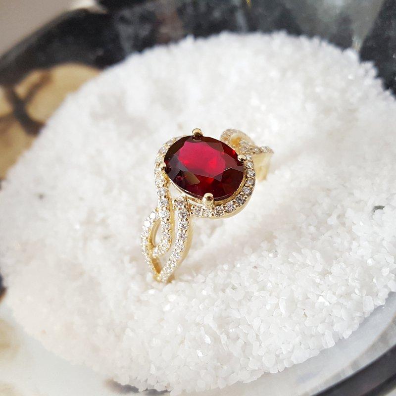 Arizona Anthill Garnet Gold Jewelry Halo Swirl Arizona Garnet Ring