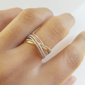 Tri-Tone Diamond Band
