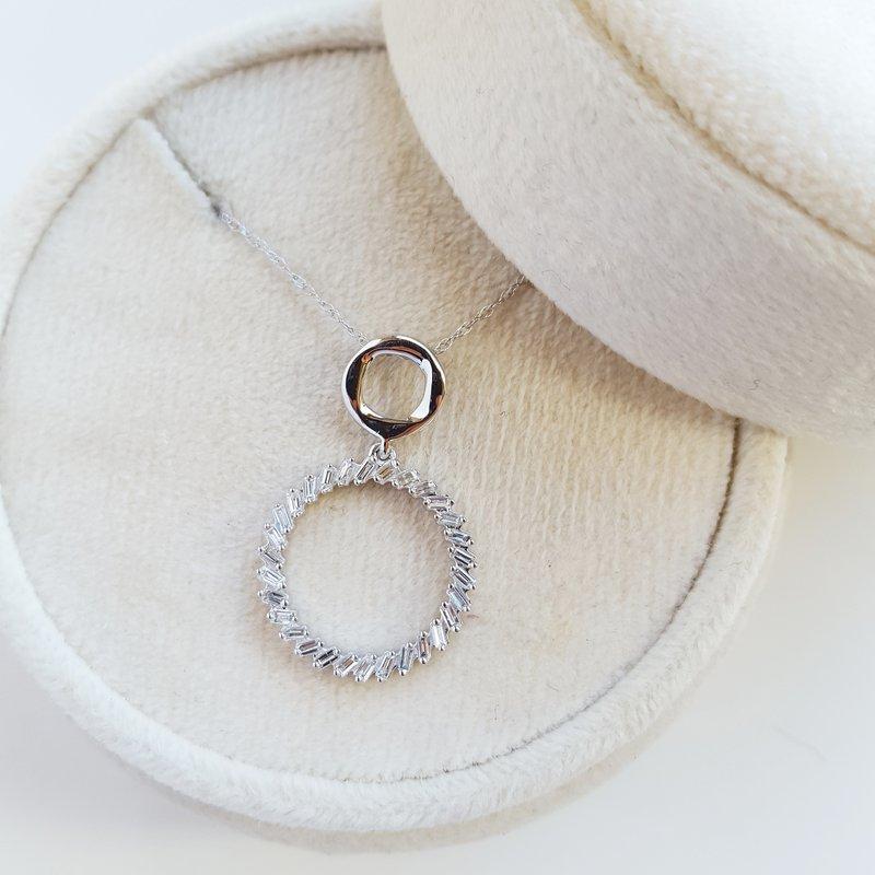 Sami Fine Jewelry Diamond Open Circle Necklace