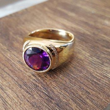 Amethyst Signet Ring