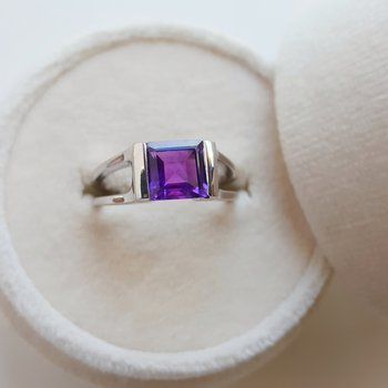 Arizona Amethyst Tension Set Ring