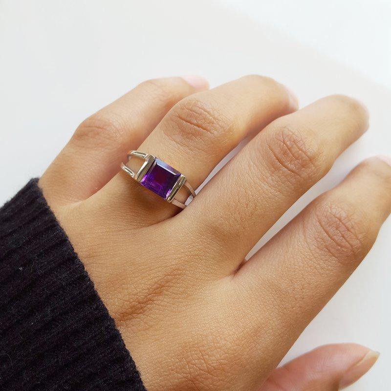 Arizona Amethyst™ Silver Jewelry Arizona Amethyst Tension Set Ring