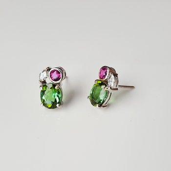 Watermelon Cluster Earrings