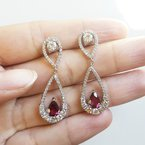 Luxury by Rene Hernandez Tourmaline and Diamond Earrings