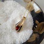 Arizona Anthill Garnet Gold Jewelry Garnet Ribbon Pendant
