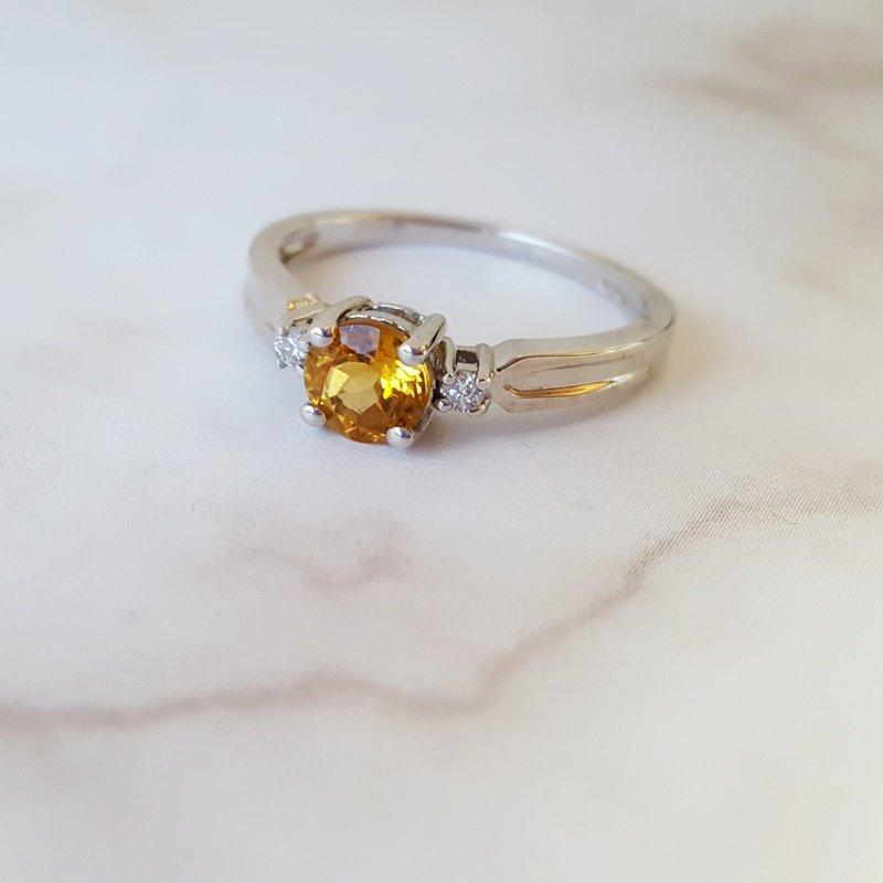 Sami Fine Jewelry Sterling Silver Citrine Ring