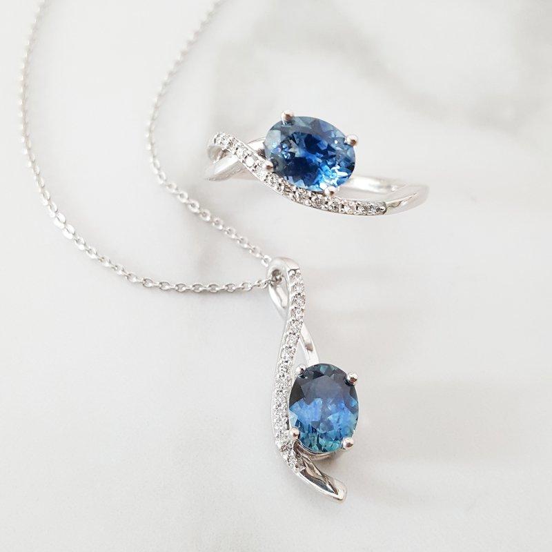 American Gem Collection™ Montana Sapphire Pendant