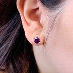 Arizona Amethyst™ Gold Jewelry Amethyst and Diamond Stud