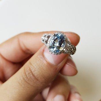Round Aquamarine Closeout Ring