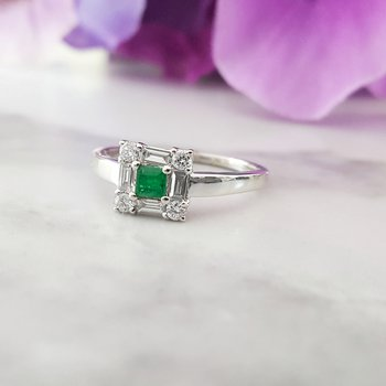 Square Emerald Ring