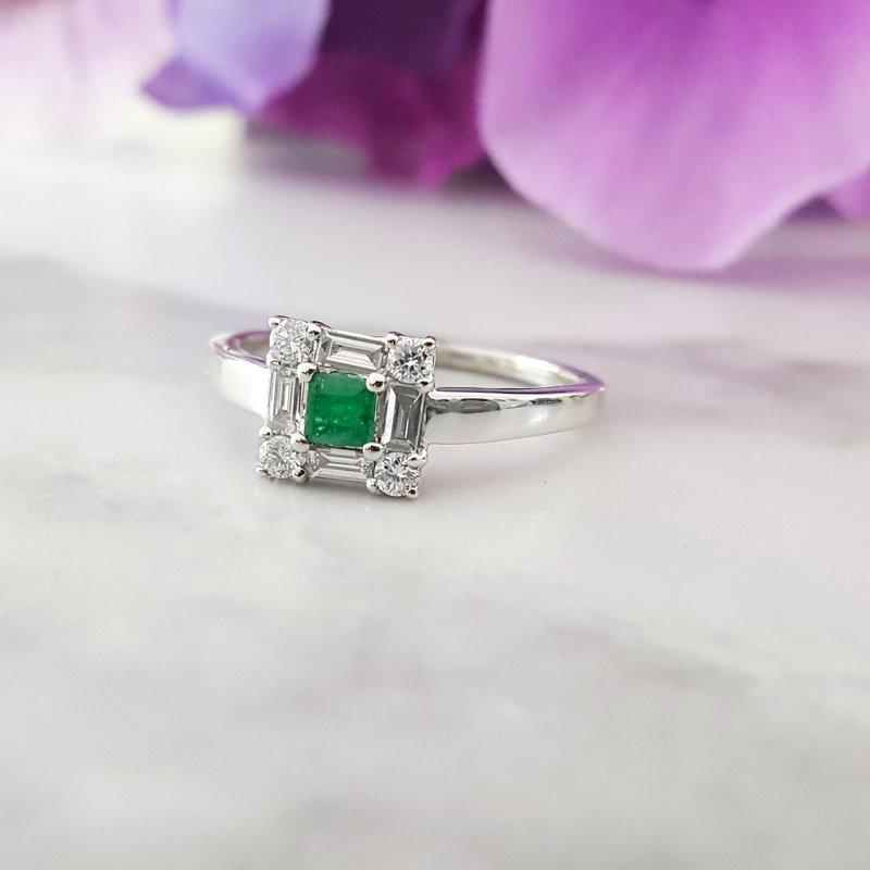 Sami Fine Jewelry Square Emerald Ring