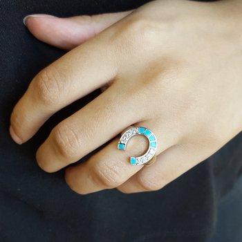 Arizona Turquoise Horseshoe Ring
