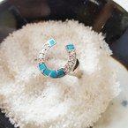 Sami Fine Jewelry Arizona Turquoise Horseshoe Ring