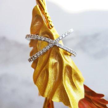 X Diamond Ring