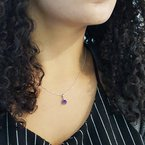 Arizona Amethyst™ Silver Jewelry Petite Accented Necklace