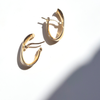 Polished Curved Hoops