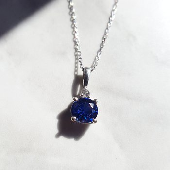 September Sapphire Pendant
