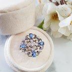 Luxury by Rene Hernandez Ornate Blue Filigree Ring