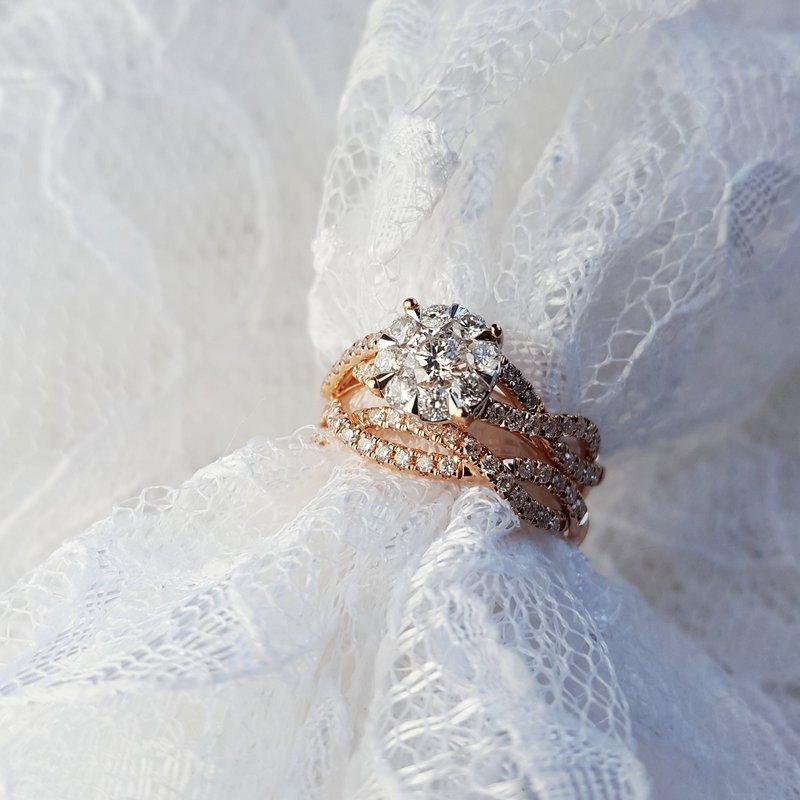 Sami Fine Jewelry Diamond Pavé Interwoven Wedding Set