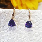 Arizona Amethyst™ Gold Jewelry Trillion Dangle Earrings