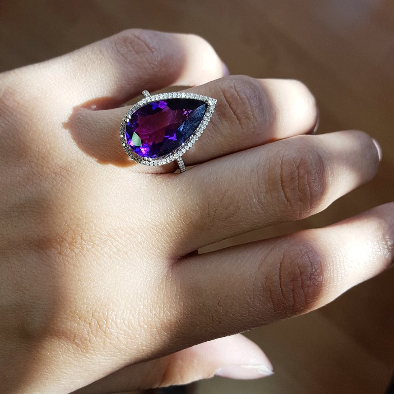 "Arizona Amethyst™ Gold Jewelry ""Superwoman"" Amethyst Ring"