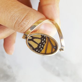 Spinning Monarch Butterfly Ring